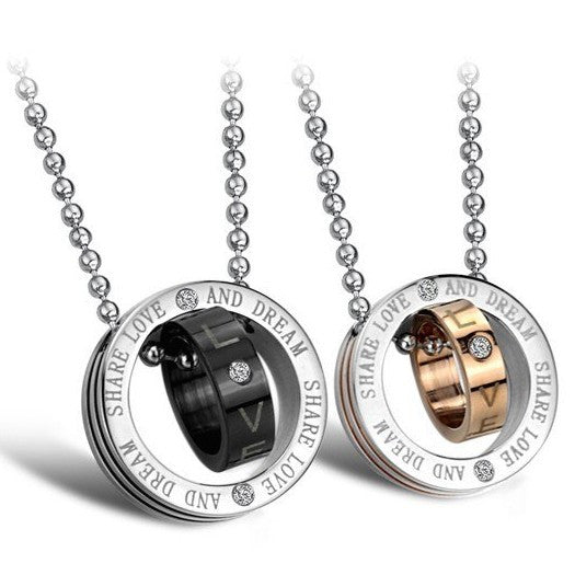 cubic-zirconia-inlaid-titanium-steel-engravable-lover-necklace-price-for-a-pair