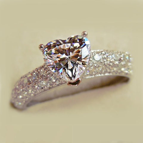 Princess Style Heart Diamond Ring