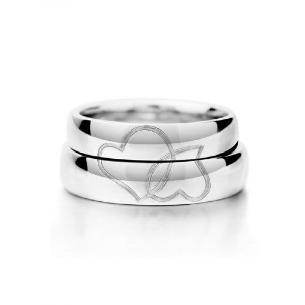 Romantic Lover's Heart Shape Couple Rings