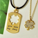 unique-fashion-four-leaf-clover-crystal-alloy-gold-plated-lover-s-necklaces-price-for-a-pair
