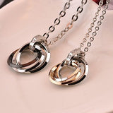 new-simple-design-316l-titanium-steel-rings-pendant-lovers-necklaces-price-for-a-pair