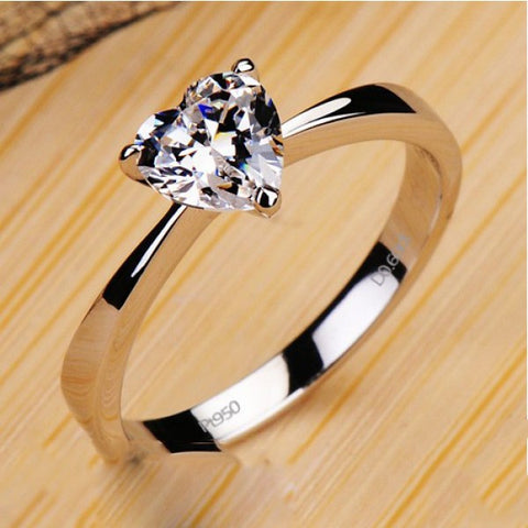Exquisite Three Prong Rich Cut NSCD Diamond Women's Ring