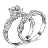 Intersect Design Engagement Ring Set