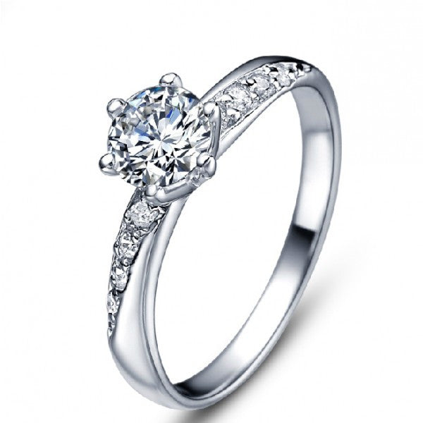 solid synthetic rings ct lovely cushion engagement for diamond wedding anniversary woman gold ring item noble shape