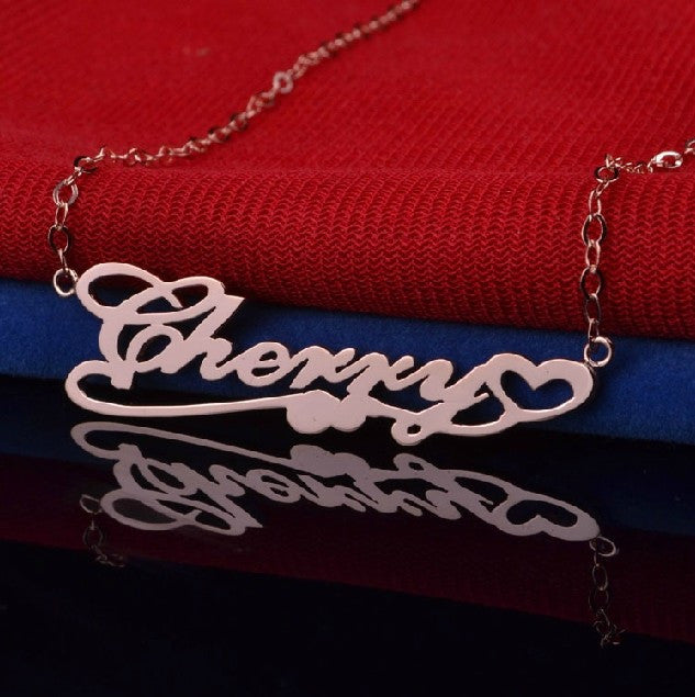 Fashionable And Trendy Personalized Sterling Silver Women's Monogram Necklace