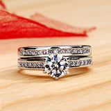 Two-Piece-In-One Diamond Women's Ring