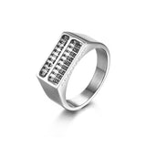 Personalized Abacus Series Titanium Steel Men's Ring