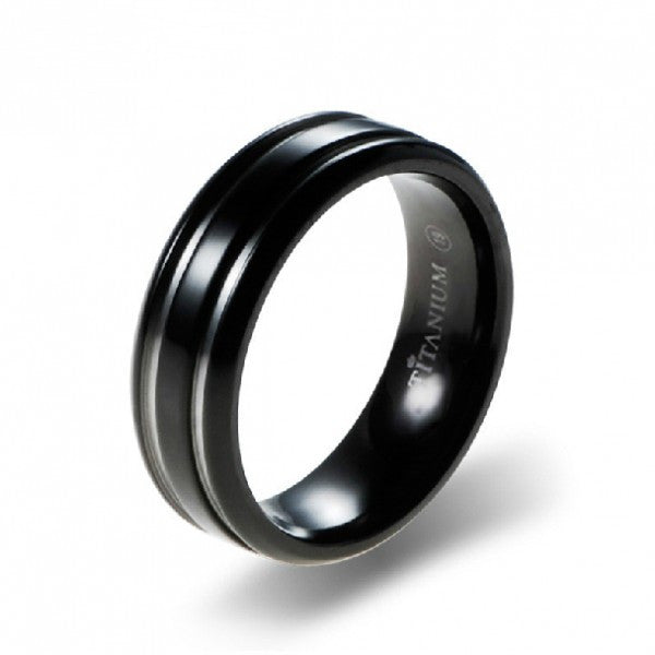Personalized Engravable Titanium Steel Men's Rings