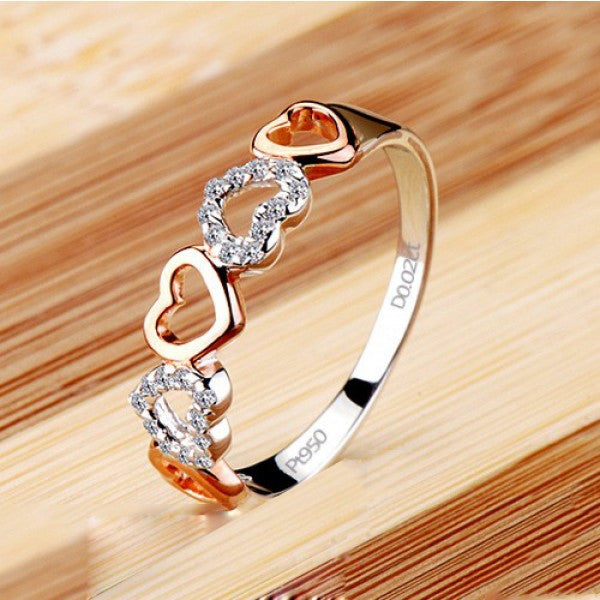 Fabulous New Romantic Heart Cubic Zirconia Women's Ring – EverMarker YZ48