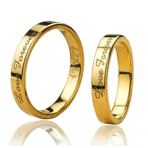Personalized 18K Gold Filled Tungsten Lover Rings For Couples