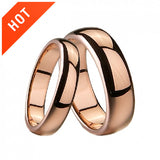 Rose Gold Plated Tungsten Lover Rings For Couples