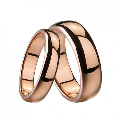 Personalized Rose Gold Plated Tungsten Lover Rings For Couples