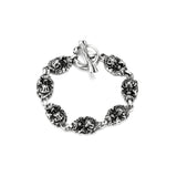 Gothic Skull Bracelet in Stainless Steel