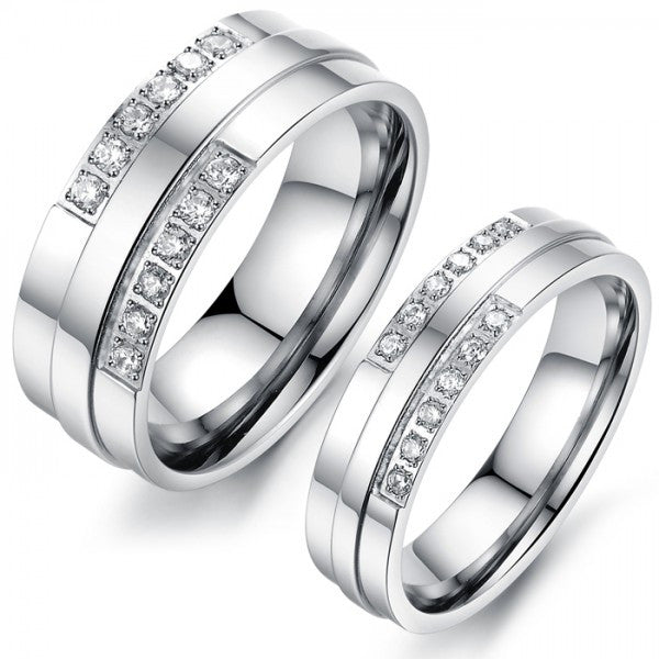 Personalized Titanium Steel Lover Rings For Couples