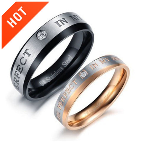 "Stunning ""The Only Enternal Love"" Lover's Rings"