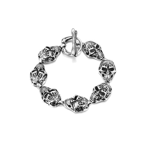 Stainless Steel Skeleton Bracelet