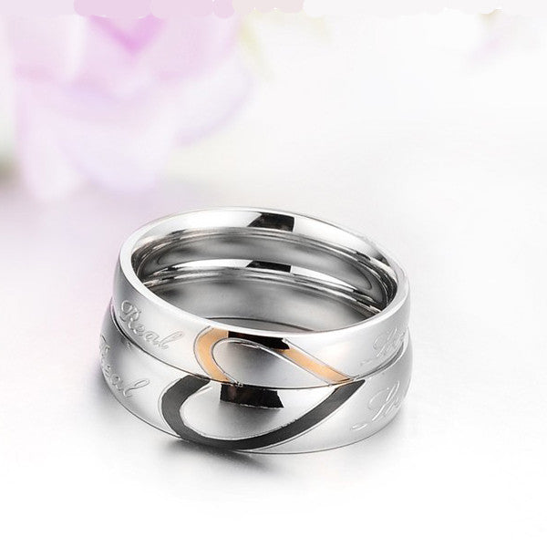 wedding engagement on shape rings under inexpensive heart matching couples band unique silver