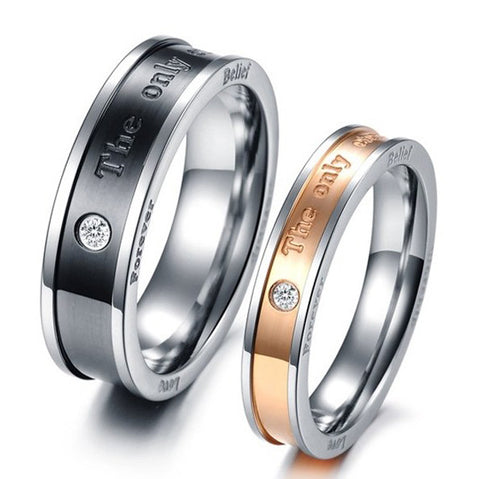 "Personalized Stunning ""The Only Enternal Love"" Lover's Rings"