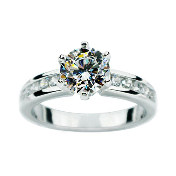 big shiny sona artificial diamond engagement wedding ring - Big Wedding Ring