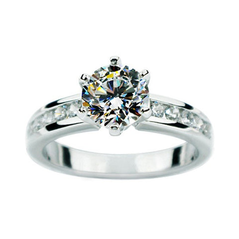Big Shiny SONA Artificial Diamond Engagement / Wedding Ring