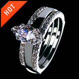 Marquise Cut Artificial Diamond Ring Set