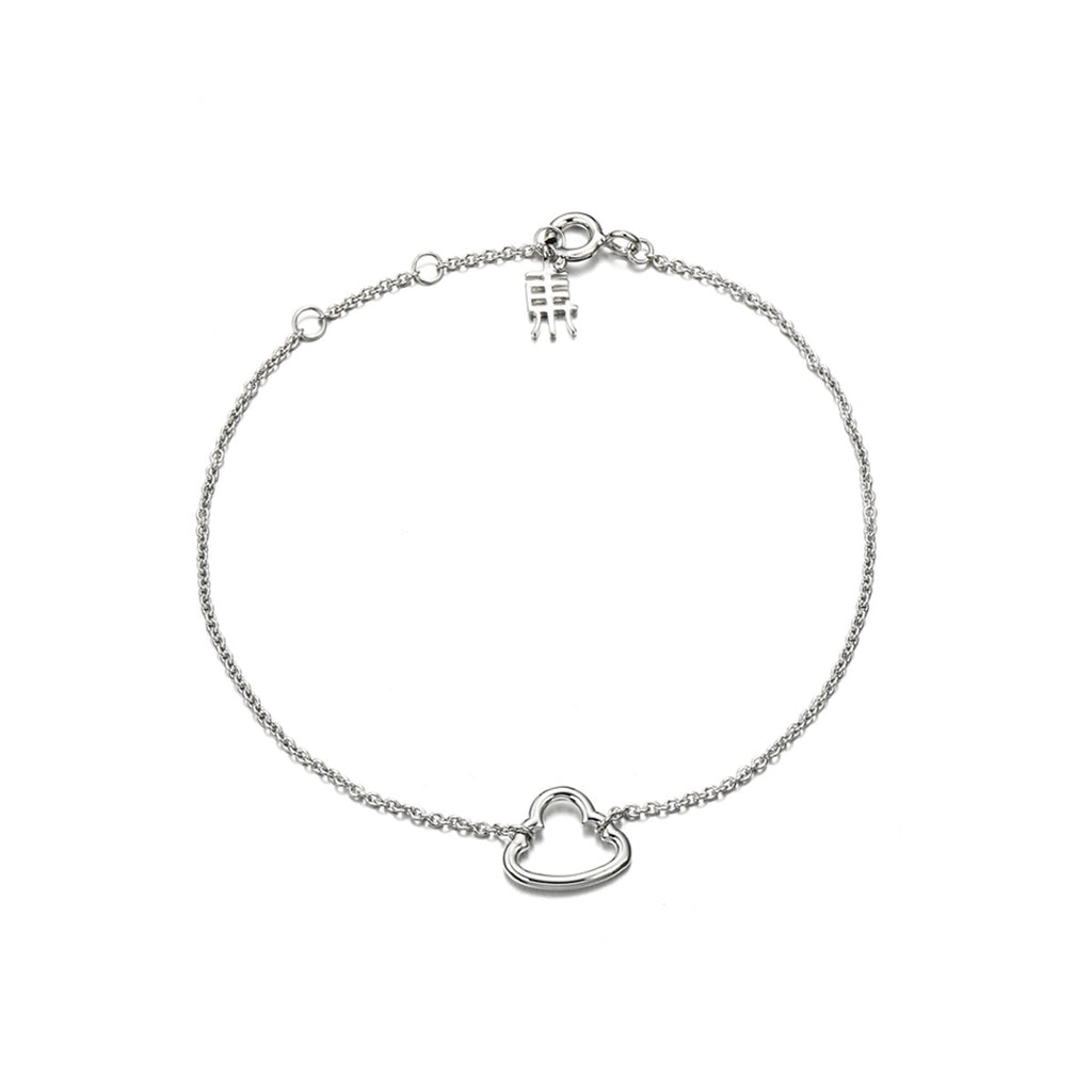 Empty Hearted 925 Sterling Silver Charm Bracelets