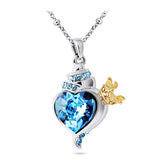 Women's Pendant Necklace Daily Golden Crown Alloy Blue