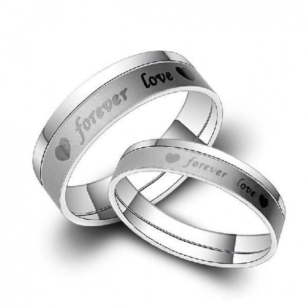 Forever Love Titanium Steel Couple Rings For Lovers