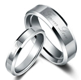 Personalized Forever Love Tungsten Couple Rings
