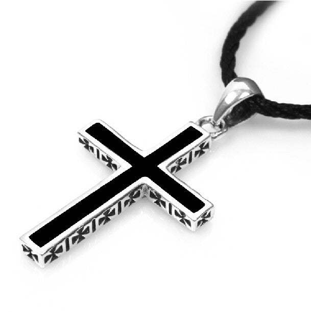 Men's 925 Sterling Silver Cross Pendant