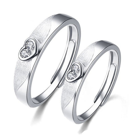 adjustable-dull-polish-925-sterling-silver-couple-heart-ring-price-for-a-pair
