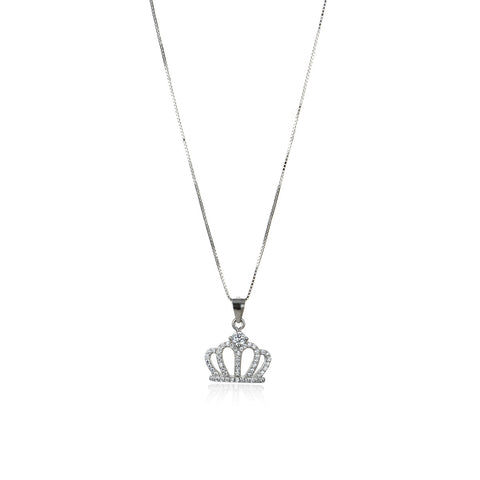 Queen's Elegant Crown Necklace