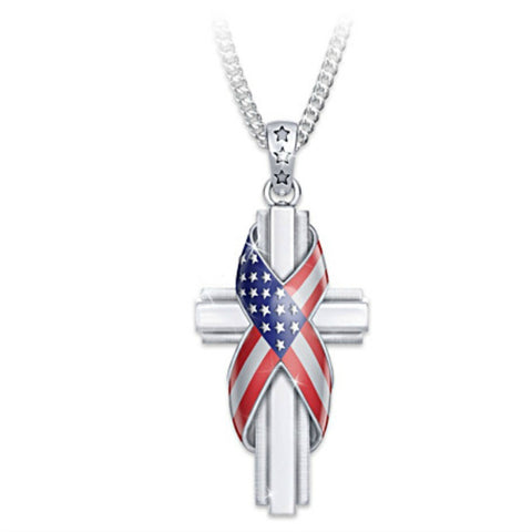 Bless US| The Stars and Stripes Pendant Necklace