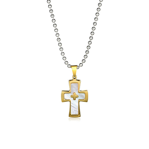 Piety Crosses Titanium Steel Men's Necklace