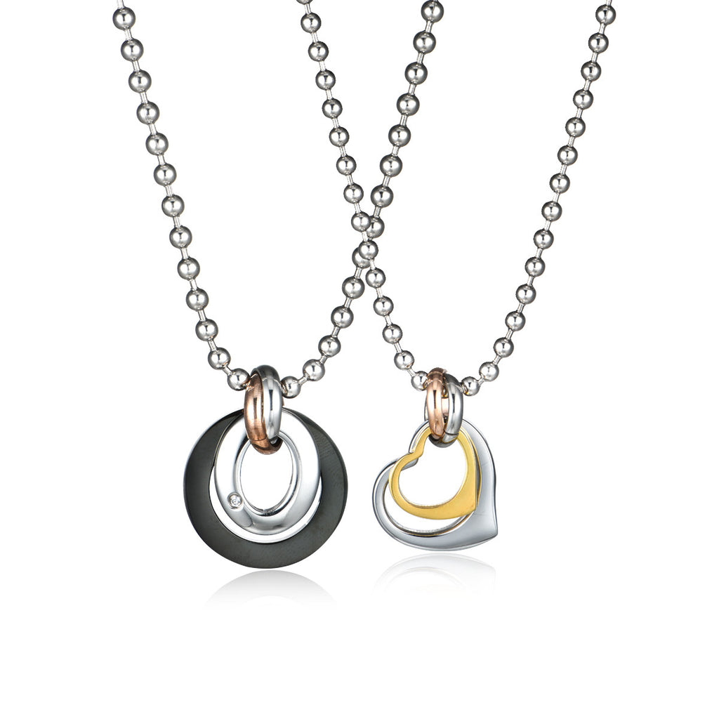 Love Combined Titanium Steel Necklaces