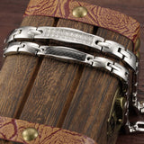 Titanium Steel CZ Inlaid Lover's Bracelets Magnetic Health