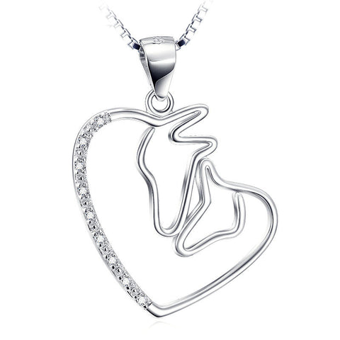 Swirl Heart Pendant Necklace