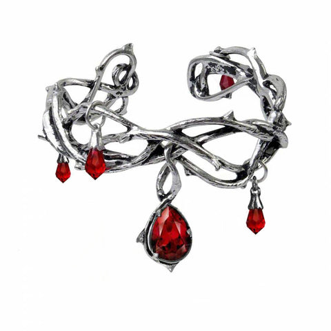 Tangled Cuff of Bloody Thorns Hollow Opening Bangle For Women