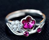 Vintage Plum Blossom Sterling Silver Ring