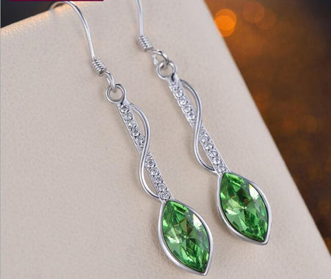 Korean Style Teardrop Silver Drop Earrings