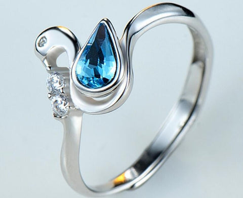 Teardrop Crystal Cuff Ring