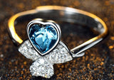 Heart and Clover Love Ring
