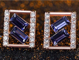 Geometry Stud Earrings in Rose Golden