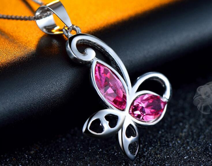 Butterfly Shape Pendant Necklace