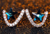 Blue Star Silver Stud Earrings