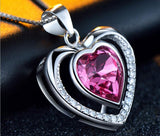 Heart in Heart Pendant Necklace