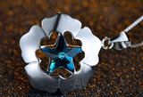 Star in Flower Pendant Necklace