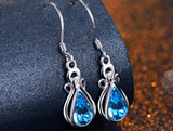 Blue Stone Drop Earrings