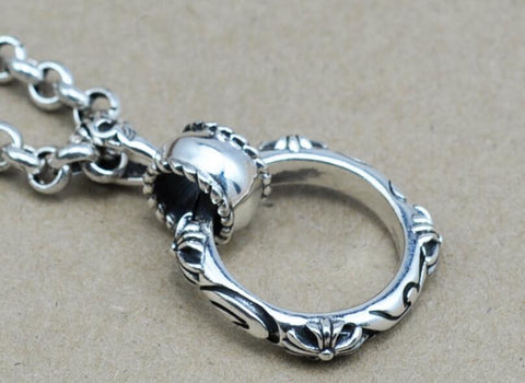 Chrome Hearts Ring Pendant Necklace