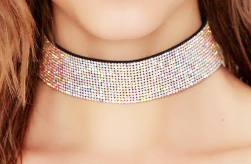 Shining Crystal Choker Necklace